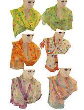 Schal Tuch Punkte Muster Halstuch Rundschal Polyester 1,7m lang Umhängetuch