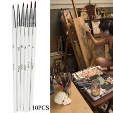 10pcs Nylon Fiber Hair Artist Paint Brush Thin Hook Line Drawing Pen HQ