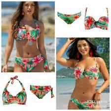 Pour Moi Heatwave Hawaii U/W Bikini Top, Strapless Padded, Brief or Fold Brief