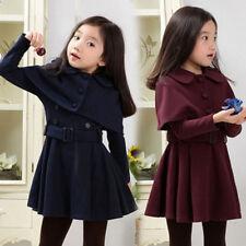 Enfants Bébé Fille Princesse Long Patineuse Manche Robe Hiver Automne Vêtements