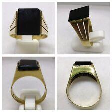 Ring 333er Gold Goldschmuck Goldring mit Onyx