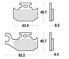 Jeu 2 plaquettes frein Avant CAN-AM OUTLANDOUTLANDER 800 MAX (4X4) XT 2008 - 2