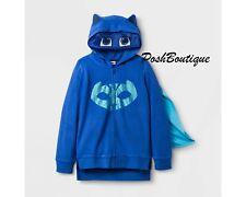 NWT PJ Masks Catboy Girl Boy Costume Hoodie Jacket Mask 4 5 6 7 8 Blue Glittery!
