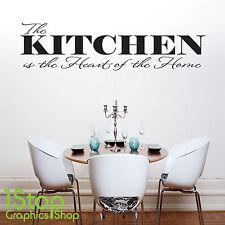 the Kitchen is Heart of el hogar Frase En Una Calcamonía Mural - Adhesivo X179
