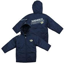 Reebok NHL Kids Nashville Predators TNT Hooded Winter Jacket, Navy