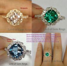 Vintage Floral VS Pink Morganite Diamonds Engagement Promise Ring,14K Rose Gold