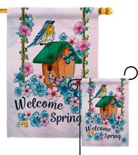 "Little Wren Spring Welcome House Flag Bird Herbs Watering Can Banner  28/"" x 40/"""