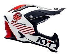 Casco Helm Casque Helmet KYT STRIKE EAGLE K-MX White Red 2018 YSEA0008