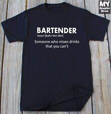 Bartender T-shirt Funny Bartender Definition Shirt Beer Vodka Whiskey T-shirt