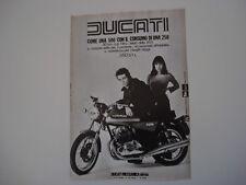 advertising Pubblicità 1976 MOTO DUCATI GTL 350
