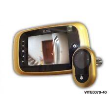 """VI.TEL E0370 SPIONCINO DIGITALE CON REGISTRATORE  DA 3,5"""" ORO E CROMO SATINATO"""