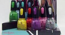 China Glaze Nail Polish Color ELECTROPOP Collection Variations # 1032-1040