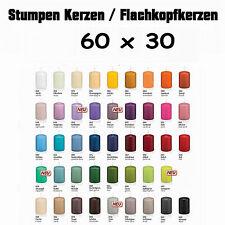 40 Stumpen Kerzen 60x30mm 1.Wahl Qualität / Kerzen Wiedemann / neue Farben 2016