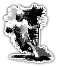 Grunge Lacrosse Player Sketch Car Bumper Sticker Decal  - 3'', 5'' or 6''