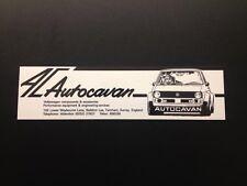 Autocavan Sticker (BLACK) 1970 1980's, 244x63mm VW Motorsport UK