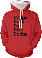 Dodge Duck Dip Dive Dodge Dodgeball Gym Class 5 Ds Go Two Tone Hoodie Sweatshirt