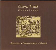 GEORG TRAKL - umnachtung CD