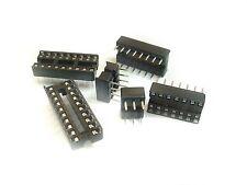 40 Stück IC Sockel 14 polig doppelter Federkontakt