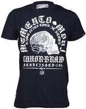 Liquor BRAND Memento Mori SKULL Oldschool T-Shirt Rockabilly