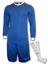 Ichnos adult size soccer football team kit shirt shorts socks royal blue white