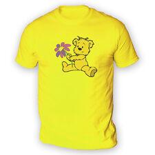 Flor Lindo Oso Para Hombres Camiseta-x13 colores-Regalo De Peluche Juguetes de Peluche Día De San Valentín