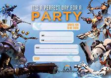 #65 OVERWATCH Pack of 10 kids children birthday party INVITATIONS