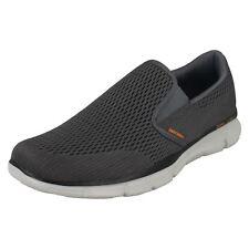 Skechers equilizer-Double Play Para Hombre Carbón/Naranja Zapatos de espuma de memoria