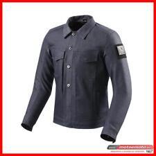 Giacca Moto Revit Crosby Tipo Camicia Blue Effetto Jeans con Protezioni