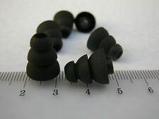 6 Aufsatz / Ohrpassstücke Triple Flange Sleeves aus Silikon zB f. Ultimate Gr S