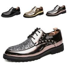 Hot Mens Shiny Shoes Pumps Rivet Sequin Flats Ultra-light Non-slip British Style