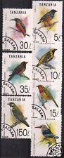 TANZANIA1992 BIRDS SET OF 7  F.USED