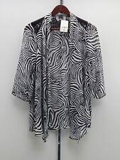 Slinky® Brand Printed Yoryu Chiffon Jacket - Zebra Print