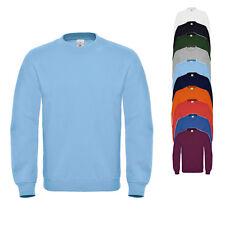 B&C Herren Pullover SWEAT ID.002 Sweatshirt Rundhals Einfarbig Neu WUI20