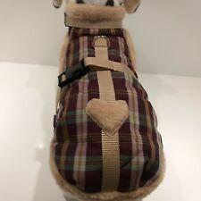 Wintermantel Chihuahua Welpen Plüsch Hunde XS S M Schottenkaro Hundemantel Herz