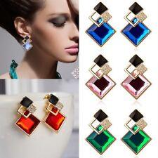 Charm Luxury Earrings Women Crystal Geometric Gold Hoop Earrings Jewelry Gift