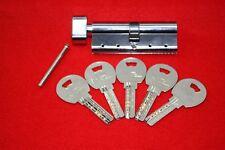 Security Thumb Turn Cylinder Euro Lock PVC Doors Anti Pick Nickel with 5 Keys