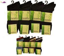 Mens BAMBOO Socks Loose Super Soft Anti Bacterial 3,6,12 Pair lot Of UK 6-11