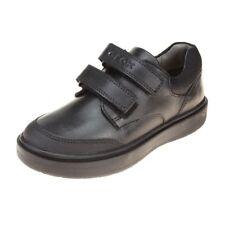 Geox Riddock Boys Black School Shoe size eu kids children hook loop leather