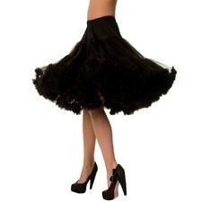 Banned Vintage Rockabilly Swing Petticoat Unterrock Tüllrock - Lifeforms Schwarz