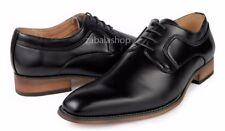 Men's Fashion Lace Up Oxfords Dress Shoes Classic Formal Plain Toe Black