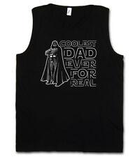COOLEST DAD EVER TANK TOP VEST - Star Fun Anakin Darth Wars Daddy Vader Shirt