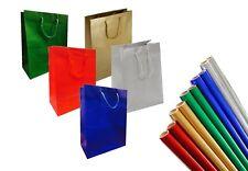 Luxe Mat laminé Sac cadeau & Metalique papier emballage - Anniversaire Noël