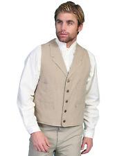 Scully Rangewear Mens Sand 100% Cotton Canvas Western Vest