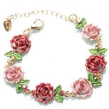 Rose Flower Floral Adjustable Bracelet Chain Jewelry Gift For Women LT