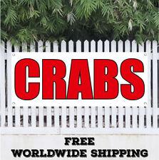 Crabs Advertising Vinyl Banner Flag Sign Fish Market Seafood Beach Shop Lobster