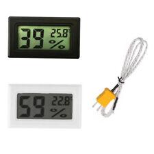 LCD Thermometer Hygrometer Humidity Temperature Meter Indoor +K Type Probe