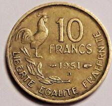 10 Francs France Guiraud 1951 - 1957 KM# 915, Schön# 221, F# 363, Gad# 812