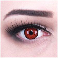 farbige rote Kontaktlinsen mit Stärke Metatron rot mit Rissen Halloween