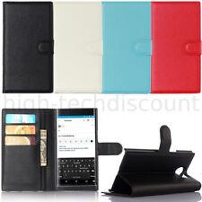 Housse etui coque pochette portefeuille pour Blackberry Priv + film ecran