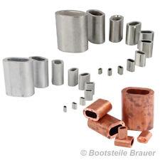 Pressklemme Presshülsen D= 1-16 mm Kupfer Alu Edelstahl Drahtseilklemme Seilkle